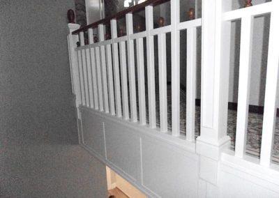Balustrada biało-brązowa