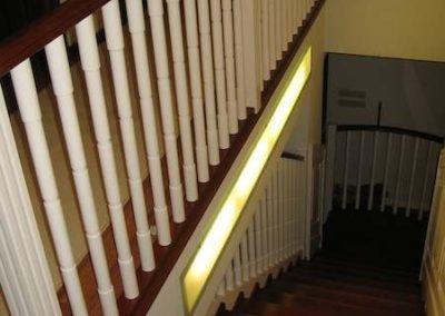 Balustrada i schody wewnętrzne