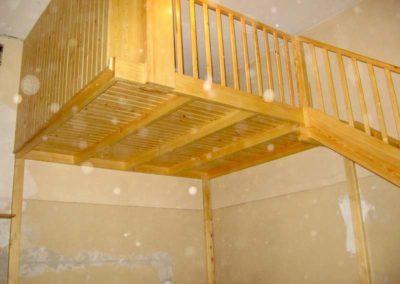 Antresola i balustrada